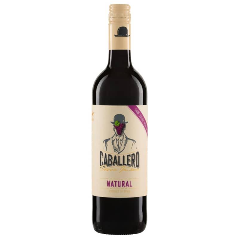 Caballero red wine Tempranillo Natural DO la Mancha